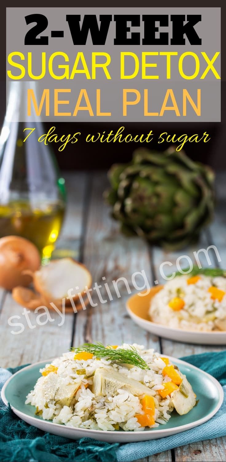 2-Week Sugar Detox Meal Plan #sugardetoxplan