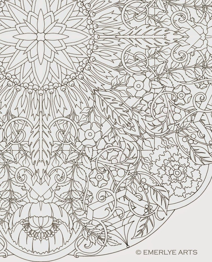 Large Format Complex Coloring Page By Cynthia Emerlye 24 Inches Square Card Table Siz Mandala Coloring Pages Pattern Coloring Pages Abstract Coloring Pages