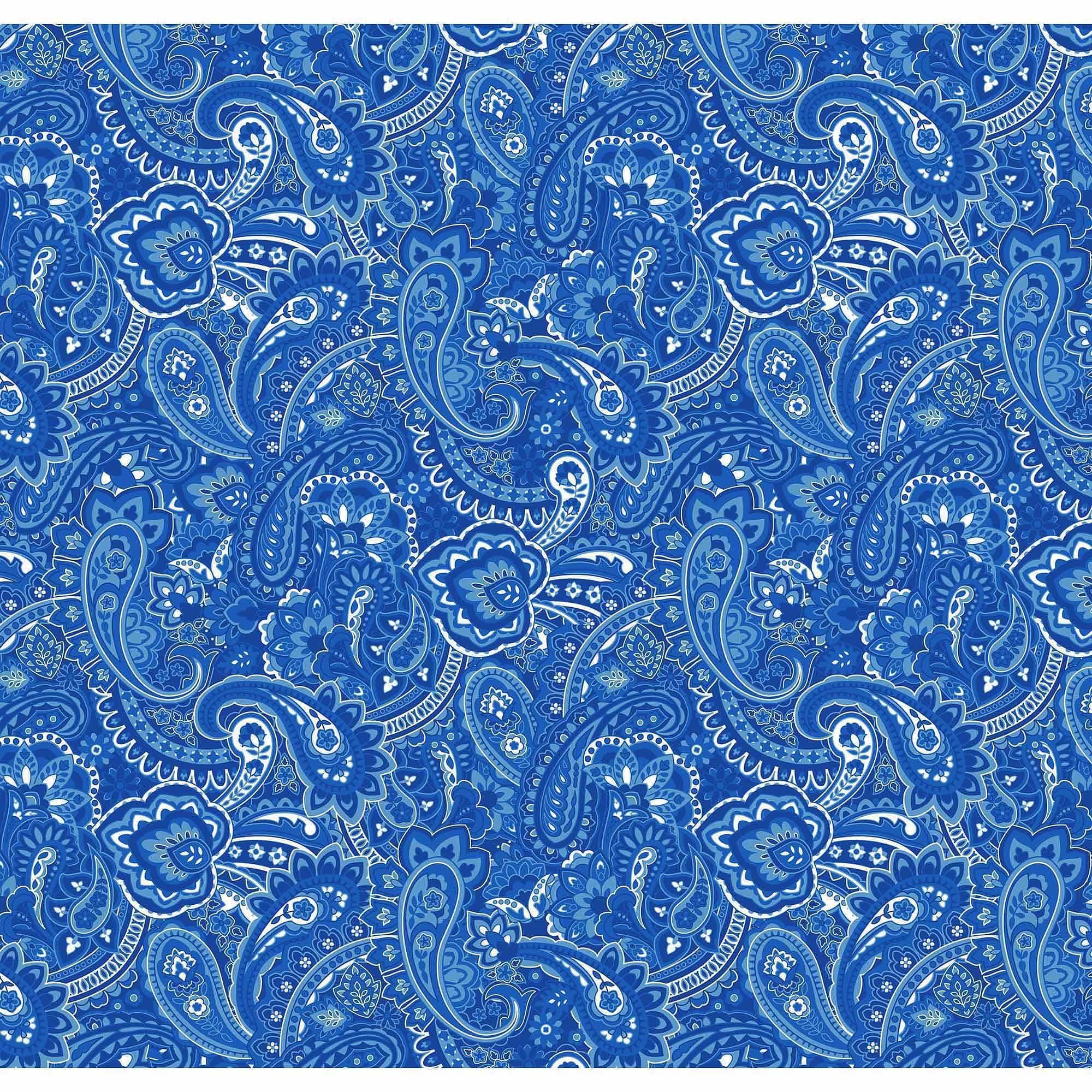 Cotton Fabric By The Yard Fabric Walmart Com Paisley Fabric