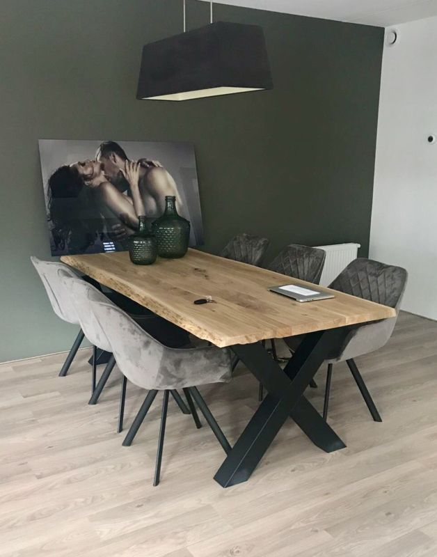 Dining Table Solid Oak Tree Trunk Table Esstisch Massiv