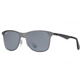 feec76f0c5 Ray Ban RB3521 Wayfarer Flat Metal sunglasses – Gunmetal Frame   Silver  Gradient Mirror Lens