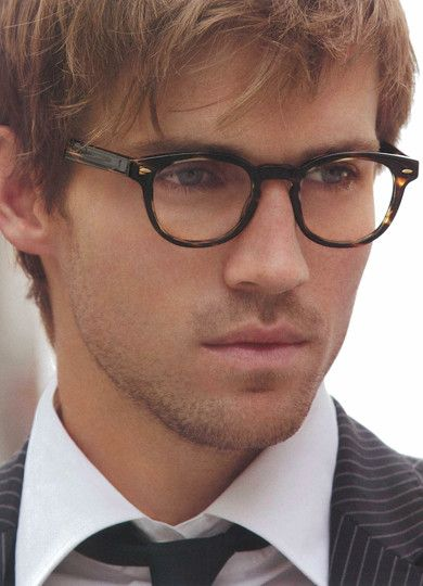 7264736e46 Perfect glasses to match sexy scruff and light locks of hair. Complimented  well by white shirt