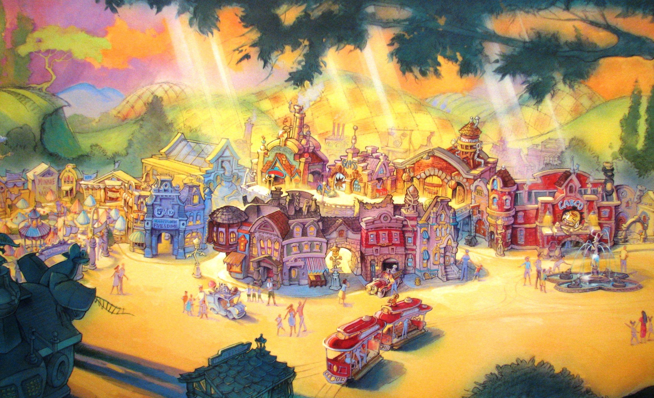 Mickey' Toontown Disneyland Walt Disney Imagineering Concept Art