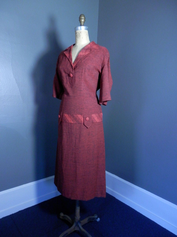 negli anni cinquanta rosso nera CHIAZZATA segretario metà secolo vestito Sexy MINTY goccia vita atomica Mad Men di 1937DryGoods su Etsy https://www.etsy.com/it/listing/212677226/negli-anni-cinquanta-rosso-nera