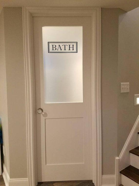 Bath Vinyl Decal Bathroom Glass Door Decal Wall Words Vinyl