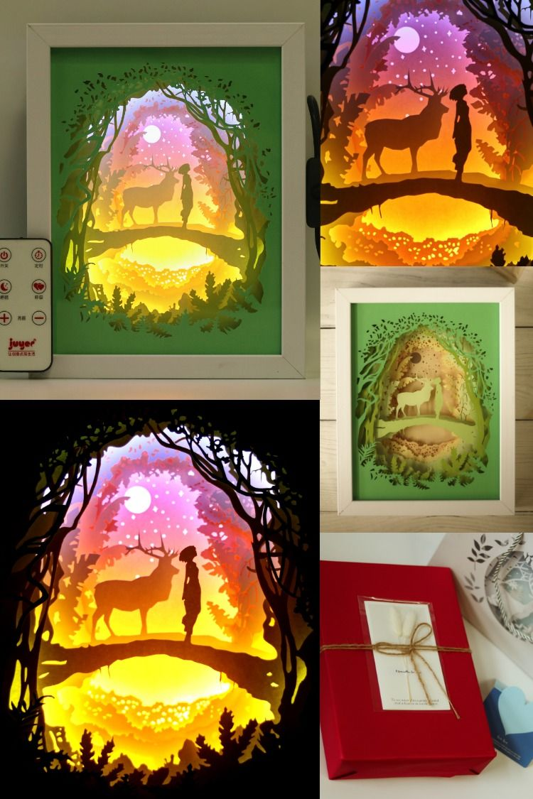 3d papercut light boxes romantic valentine gifts for your