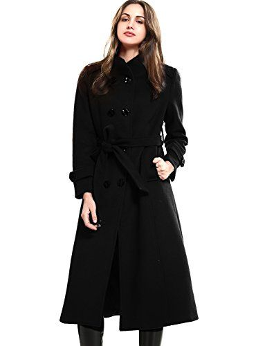 Alough Women Jacket Plus Size Wool Leather Stitching Pea Trench Coat Winter Fall Snow 4X Coats
