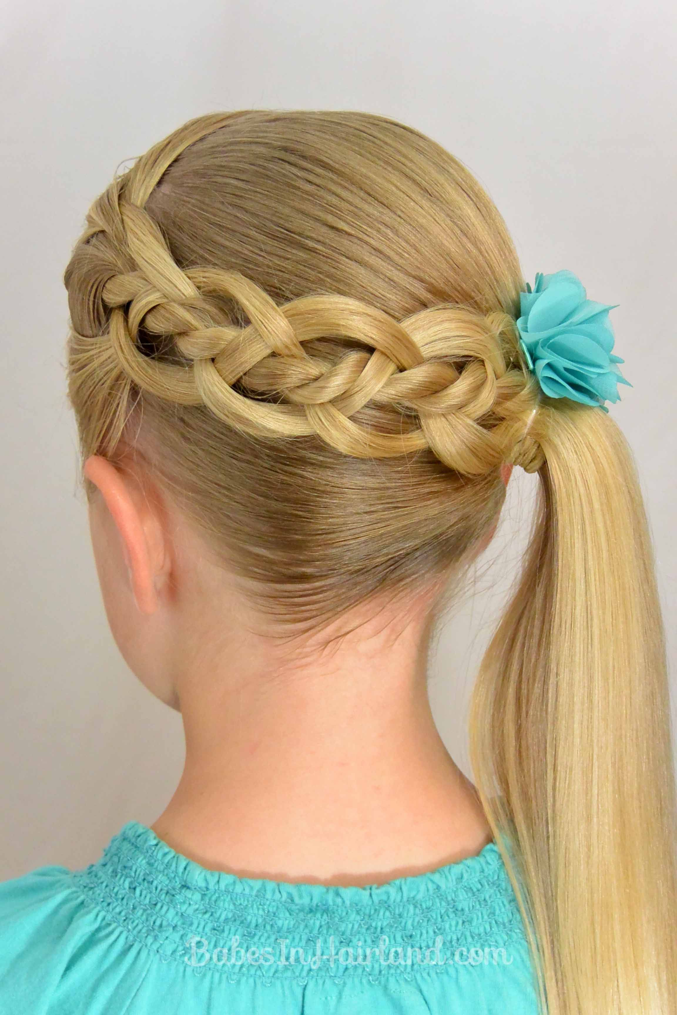 4 Strand Braid with a Twist (With images) Little girl