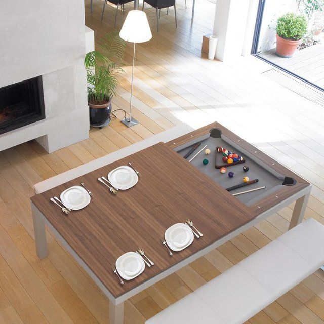 The Fusion Table Is Every Guy´s Dream, A Dining/pool Table Your  Wife/girlfriend Could Live With! The Unique Product Is A Dining Table And Pool  Table All In ...