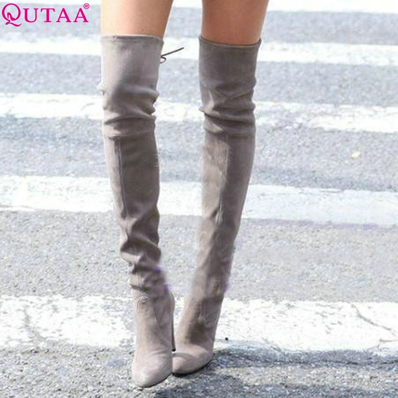 6a0160a6e132 ... boots and more boots directly from China boots add Suppliers  ESVEVA  2017 Western Style Spring Over The Knee Boots Square High Heel Women Boots  Sexy ...