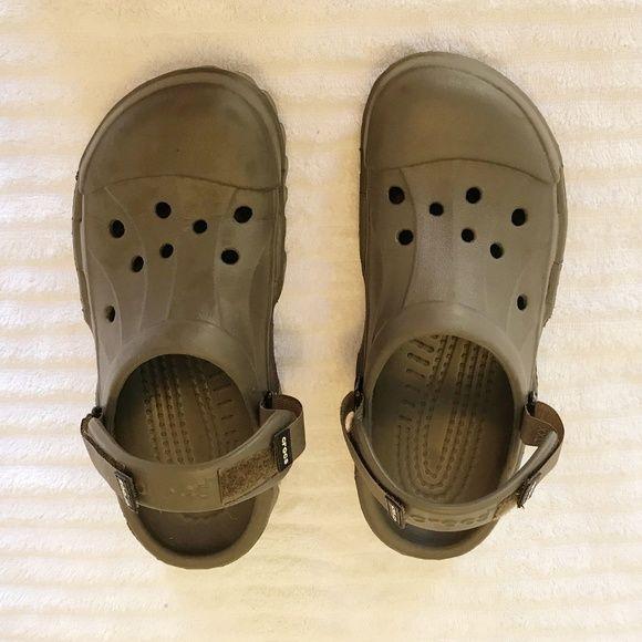 0c1388f284 Crocs men's shoes Size 10 brown men's crocs worn 5x CROCS Shoes Sandals