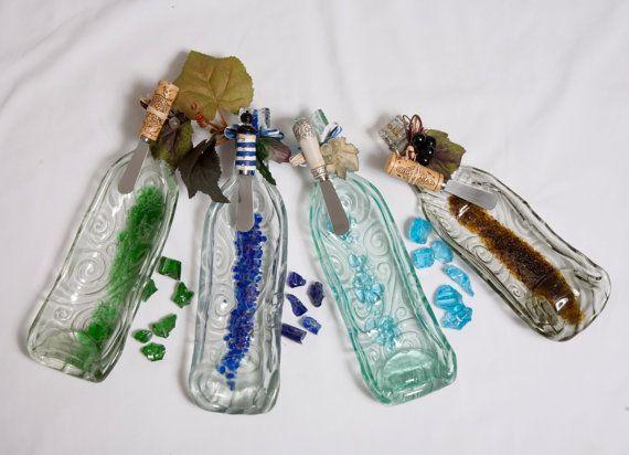 Mosaic Scroll Pattern Slumped Bottle Serving by WindwardGiftShop, $20.00