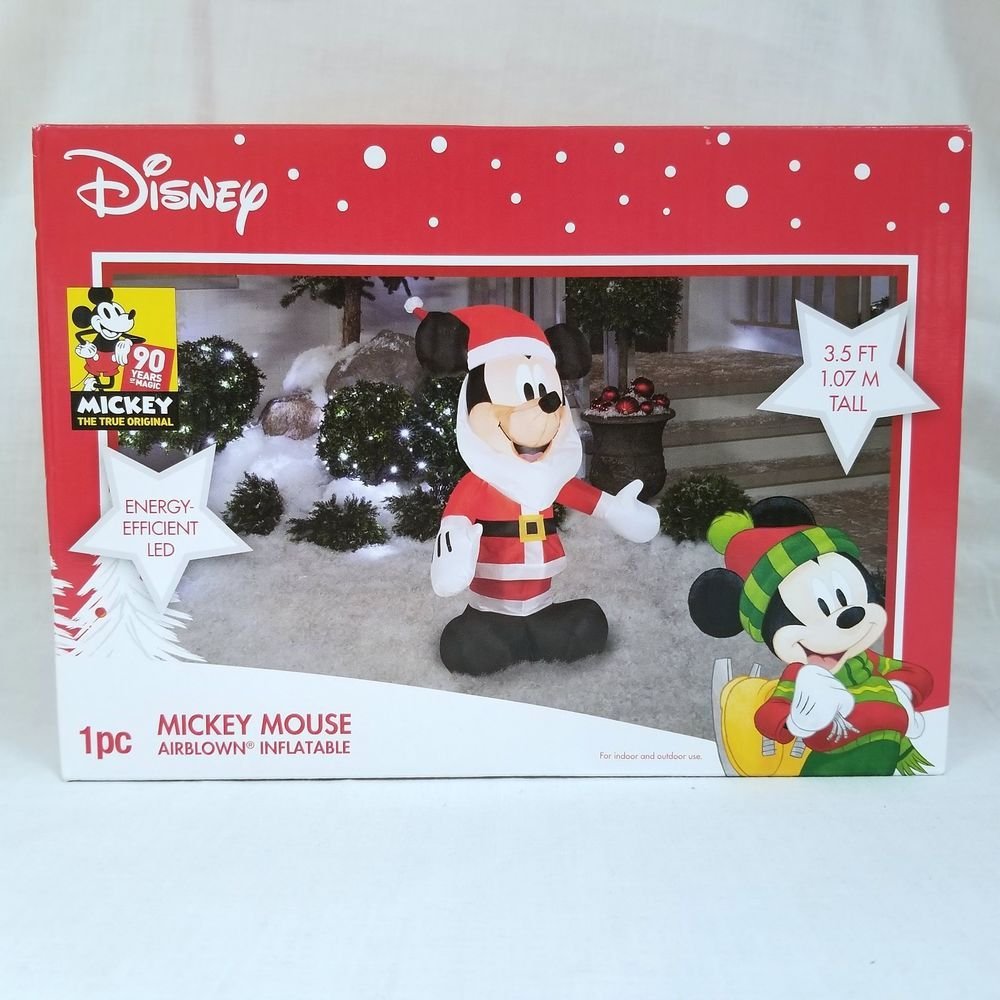 Gemmy Christmas Inflatables 2019.Gemmy Disney Airblown Inflatable Christmas Santa Mickey