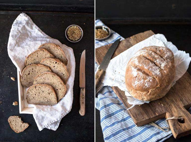 Einfaches glutenfreies Brot ohne Hefe oder Sauerteig