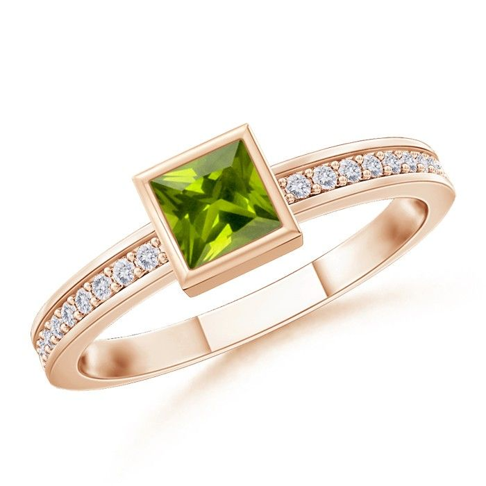 Angara Peridot Cocktail Ring in White Gold 4L40pQjHmf