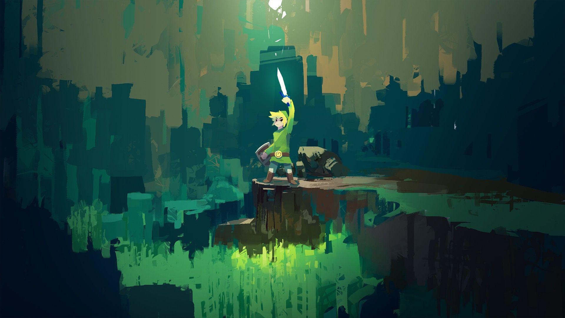 The Legend Of Zelda Master Sword Wallpapers High Quality Zelda Master Sword Digital Wallpaper Zelda Art