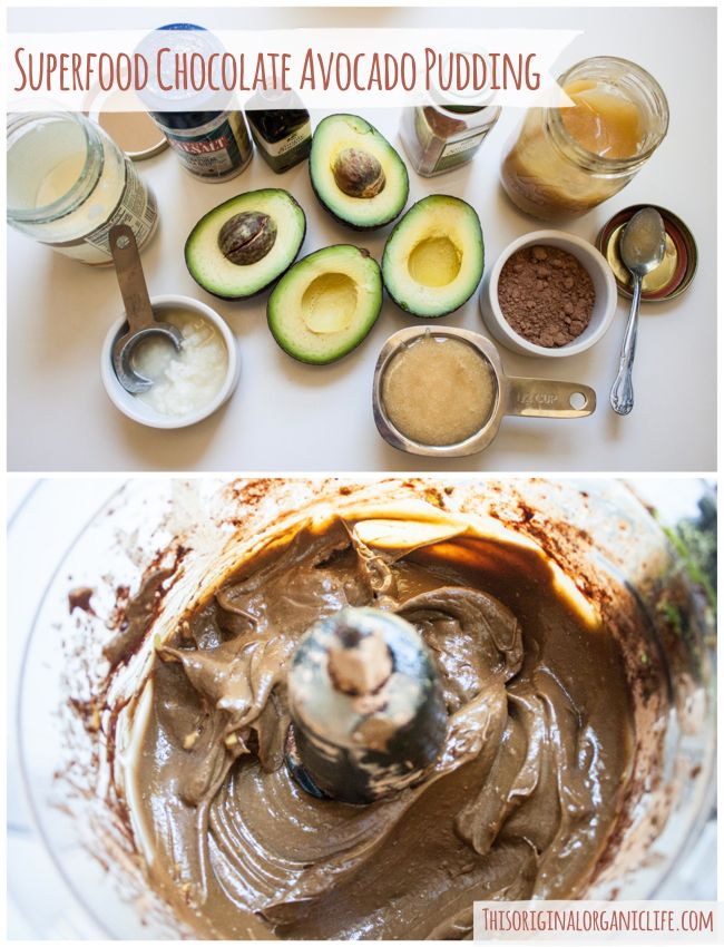 Superfood Chocolate Avocado Pudding Dairy Free Gluten Free