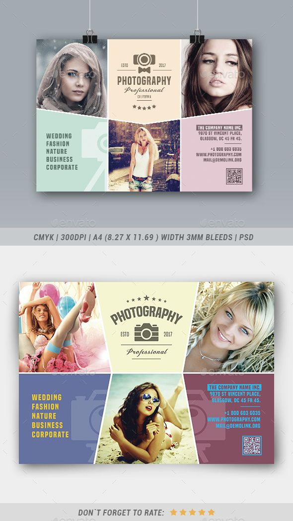 Photography Flyer | Photography flyer, Flyer template and Photography