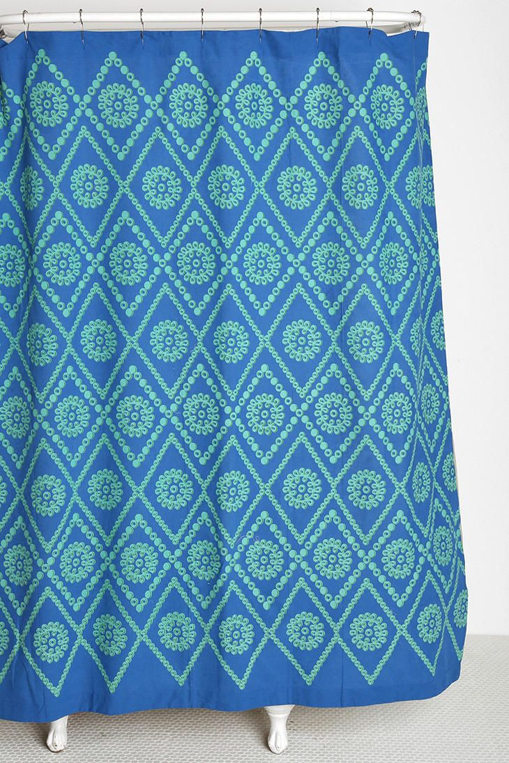 Badezimmer ideen blau plum u bow twotone eyelet shower curtain  bad  pinterest