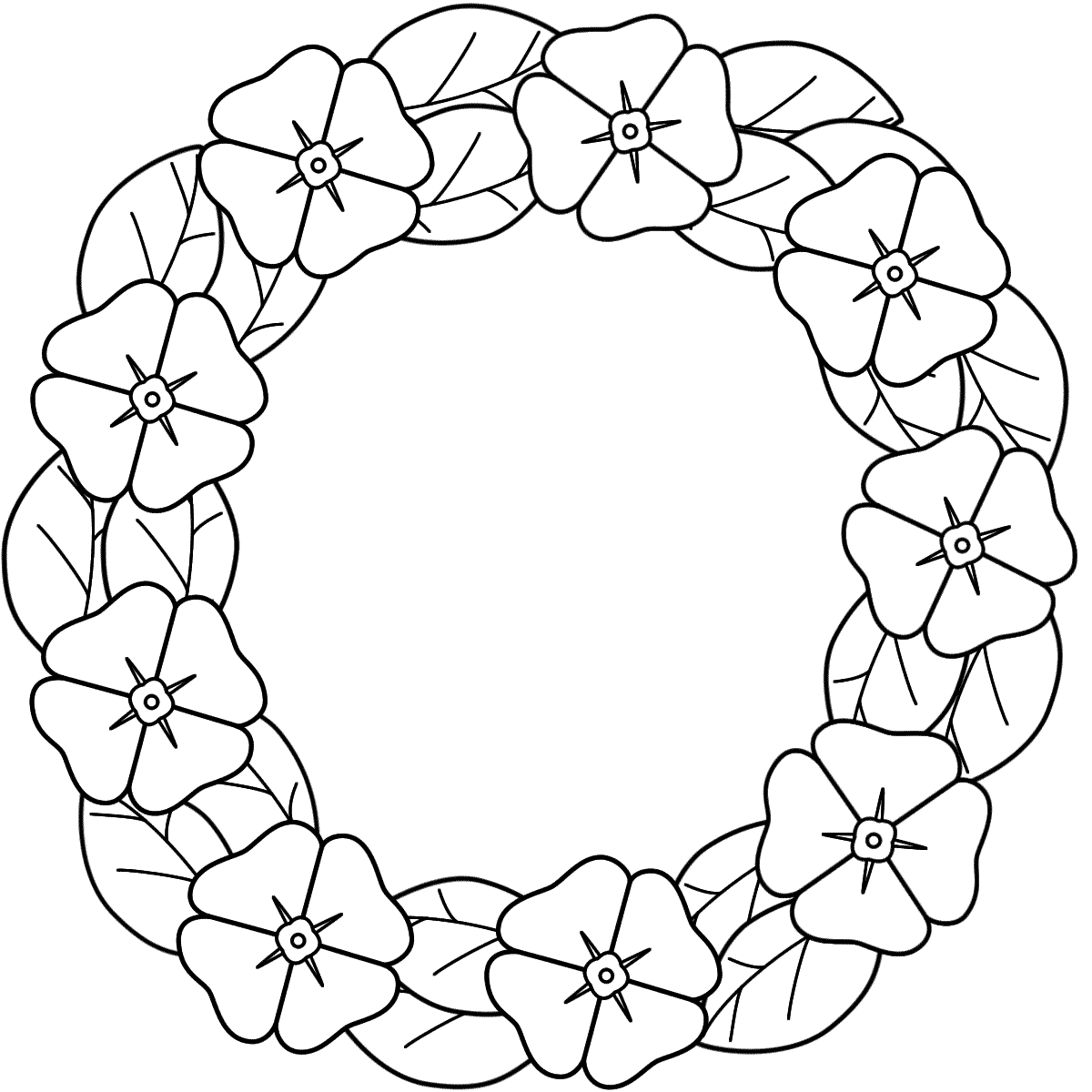 Memorial day flag coloring pages - This Poppy Wreath Coloring Page Features A Picture Of A Poppy Wreath To Color For Remembrance Day The Coloring Page Is Printable And Can Be Used In The