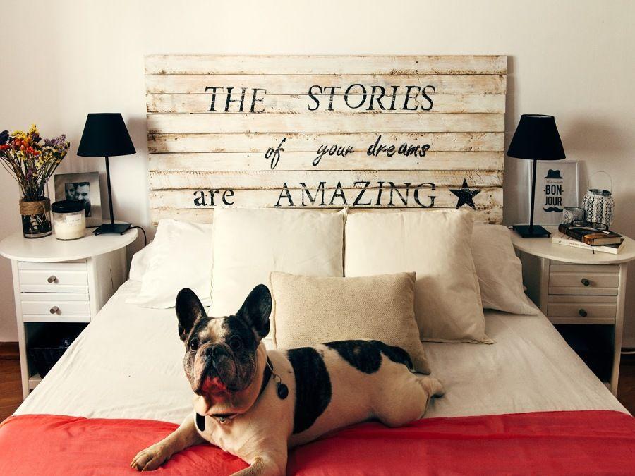 Cabecero De Cama Con Frase Inspiradora Home En 2018 Pinterest - Como-hacer-cabeceros-de-cama-originales