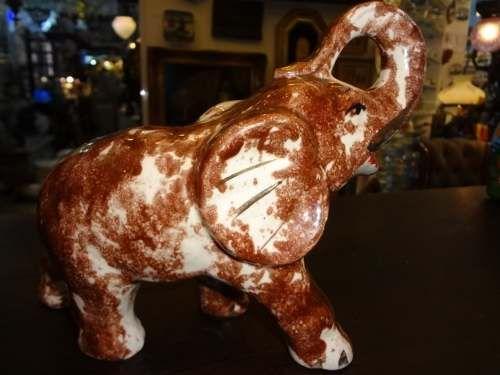 elefante anos 50 em porcelana