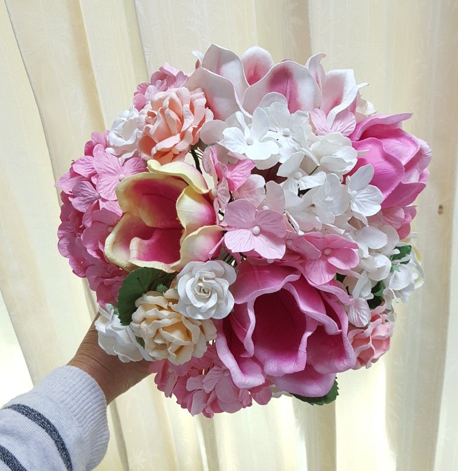 Muberry Paper Flowers Bouquet Mulberry Paper Flowers Pinterest