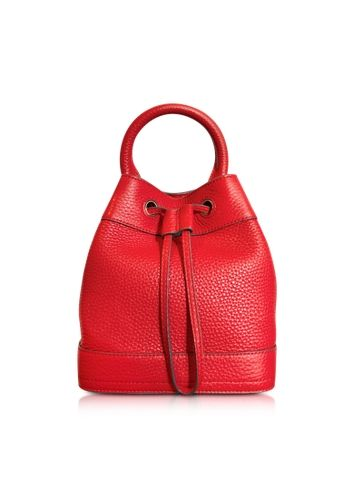 Tory Burch Robinson Mini Pebbled Leather Bucket Bag
