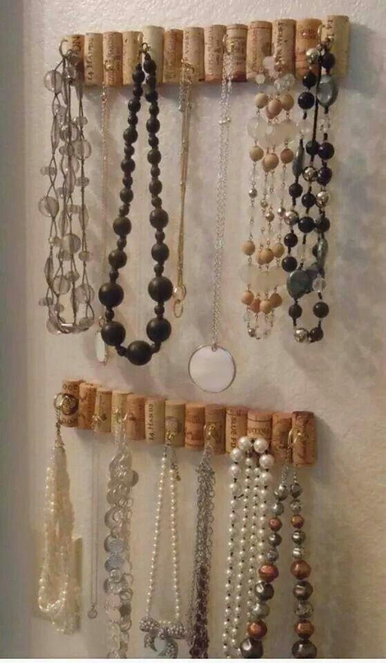 Great way to keep jewellery Reciclar Pinterest Jewelry storage