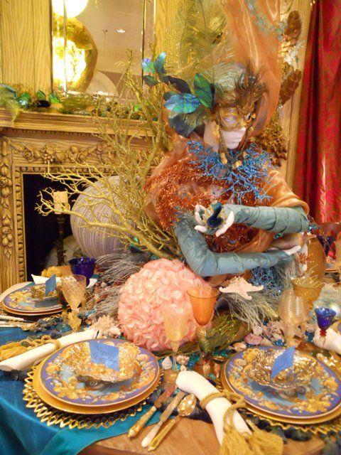 exuberant Venetian Carnivale party decor