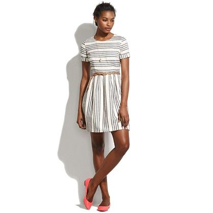 adore this striped dress from madewell