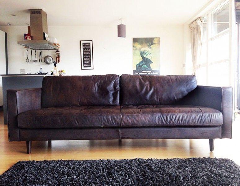 Scott 3 Sitzer Sofa Vintage Premium Leder In Braun Vintage Sofa 3 Seater Sofa Sofa