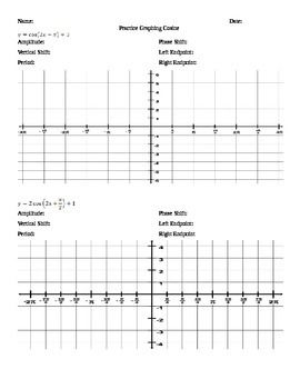 over 20 practice problems of graphing sine cosine and tangent i created these worksheets with scaffolding on the different transformations - Graphing Sine And Cosine Worksheet
