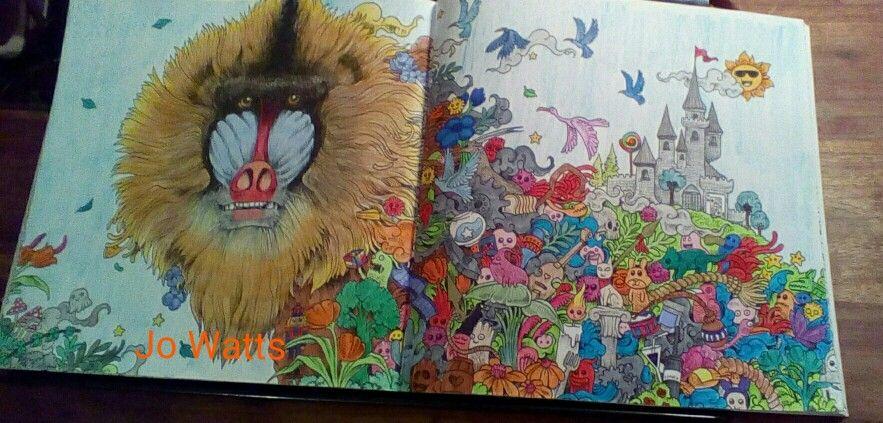 Kerby Rosanes Animorphia Baboon By Joanne Watts