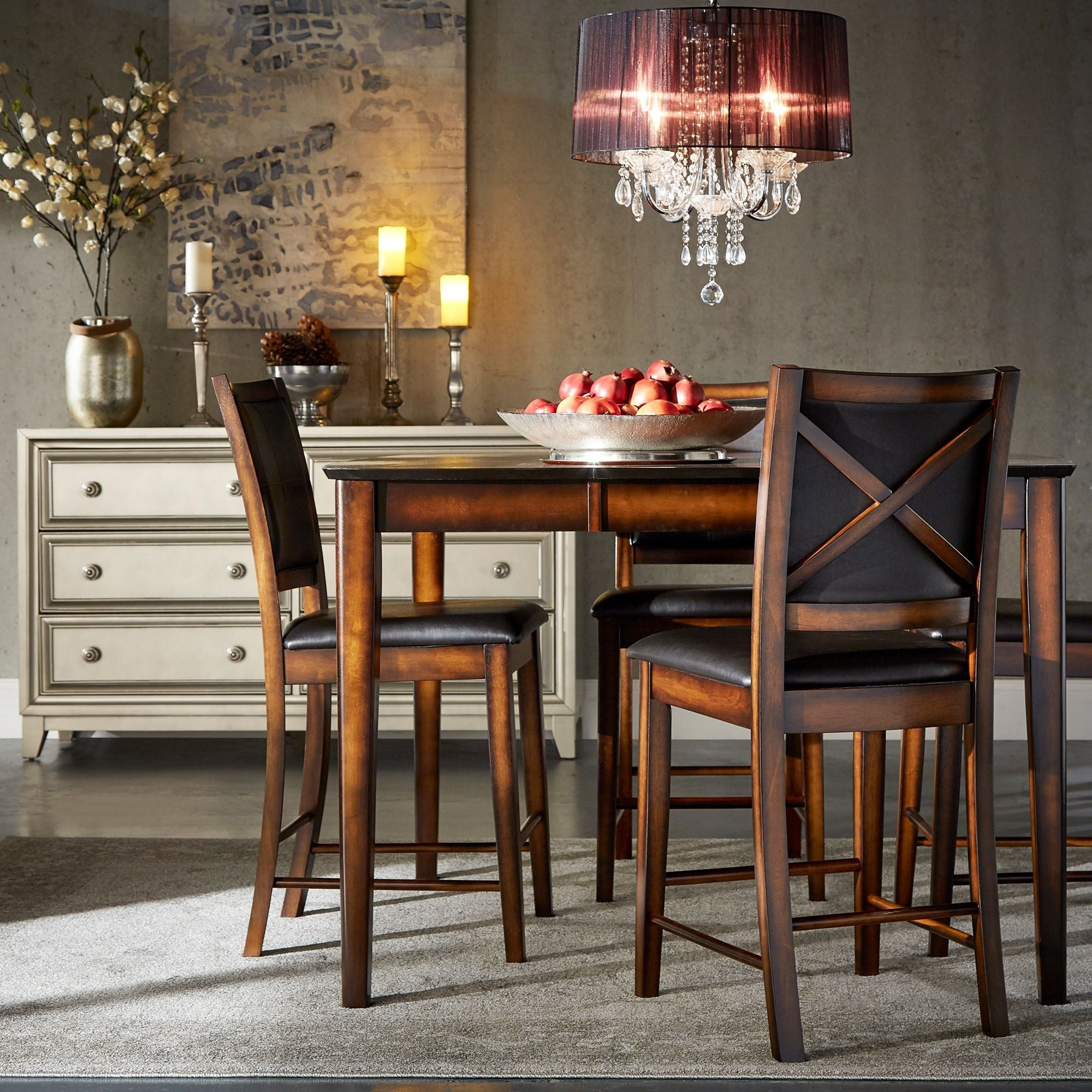 Frisco Bay Burnished Oak 24inch Counter Chairs (Set of 2