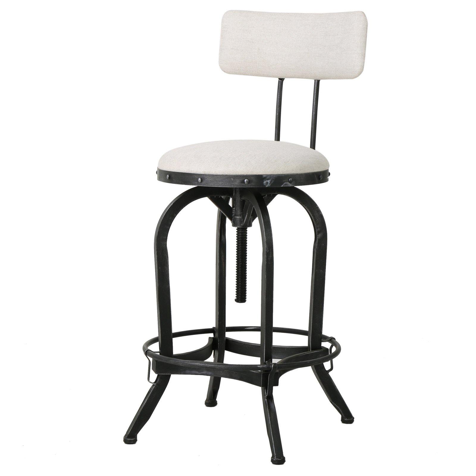 Brandon Bar Stool With Backrest Bar Stools Swivel Bar Stools Adjustable Bar Stools