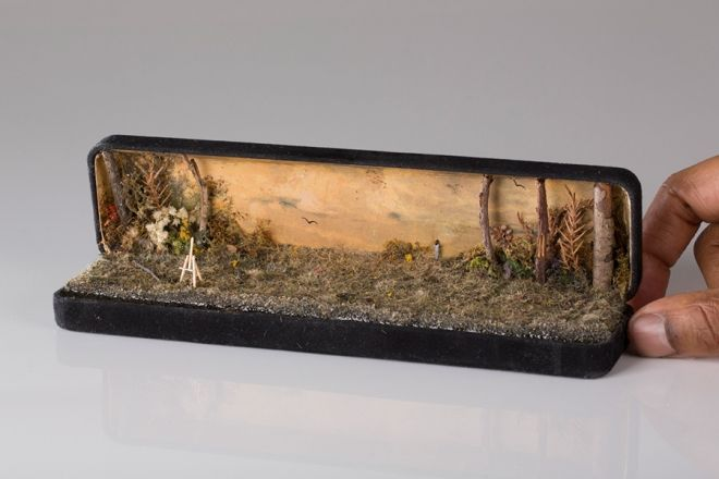 Jewellery boxes that open to reveal miniature people and tiny painted scenes   Creative Boom
