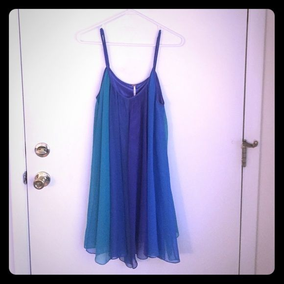 Blue/Teal/Purple Free People Dress Multicolored short dress.  New with tags, NEVER WORN.  Retails at $138 Free People Dresses