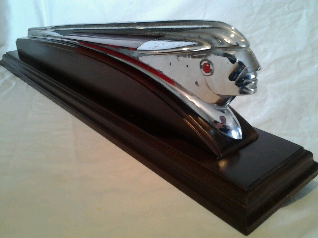 Wing hood ornament - Hot Rod Rat Rod Hood Ornament 1948 1949 Pontiac Indian Red Wing Custom Stand Ebay