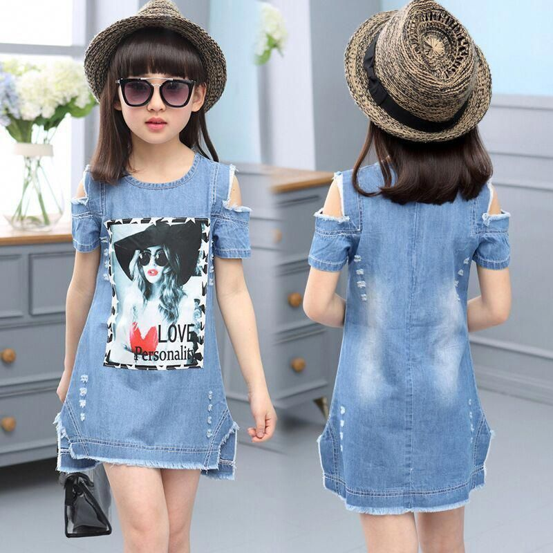 10 Year Old Girl Clothes Dresses For Ten Year Girl Cute Outfits For 12 Year Old Girls 20190110 Girls Denim Dress Girl Outfits Girls Denim