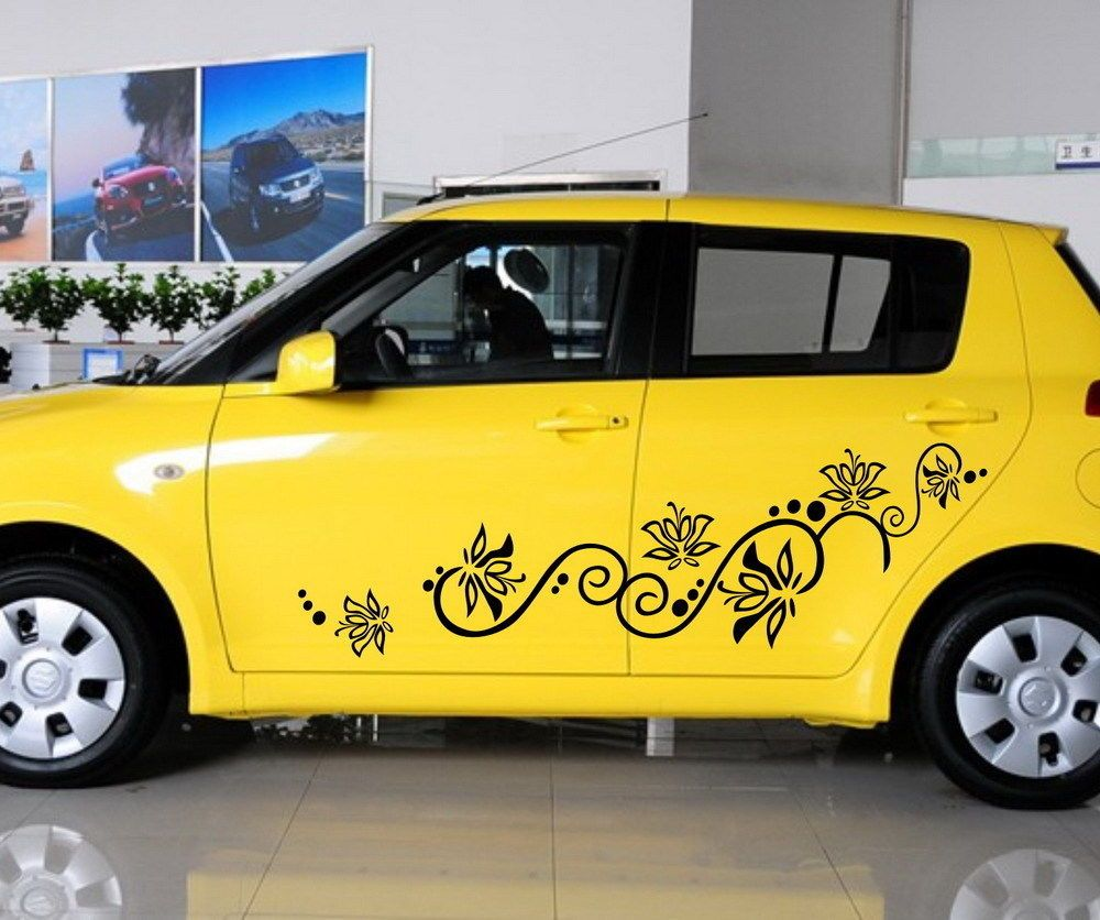 Car flowers door decal for swift vinyl graphics side stickers 1015 sbg65r doesnotapply