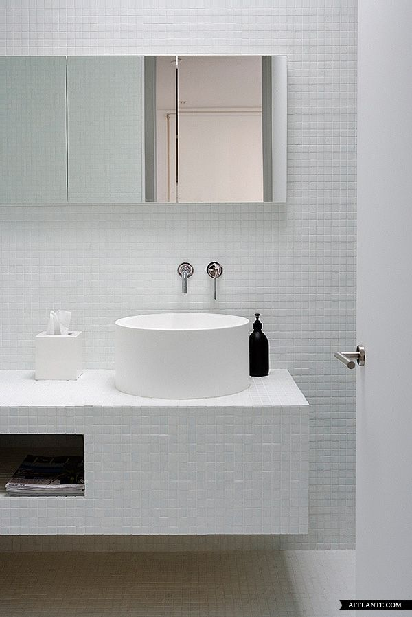 small white mosaic tile walls, floor and vanity | "|600|898|?|32909b7228323e24de2587eb9ecfcaa3|False|UNLIKELY|0.3336445689201355