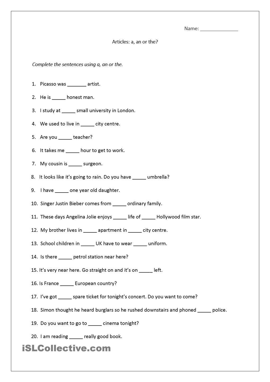 Articles worksheet (a [ 1440 x 1018 Pixel ]