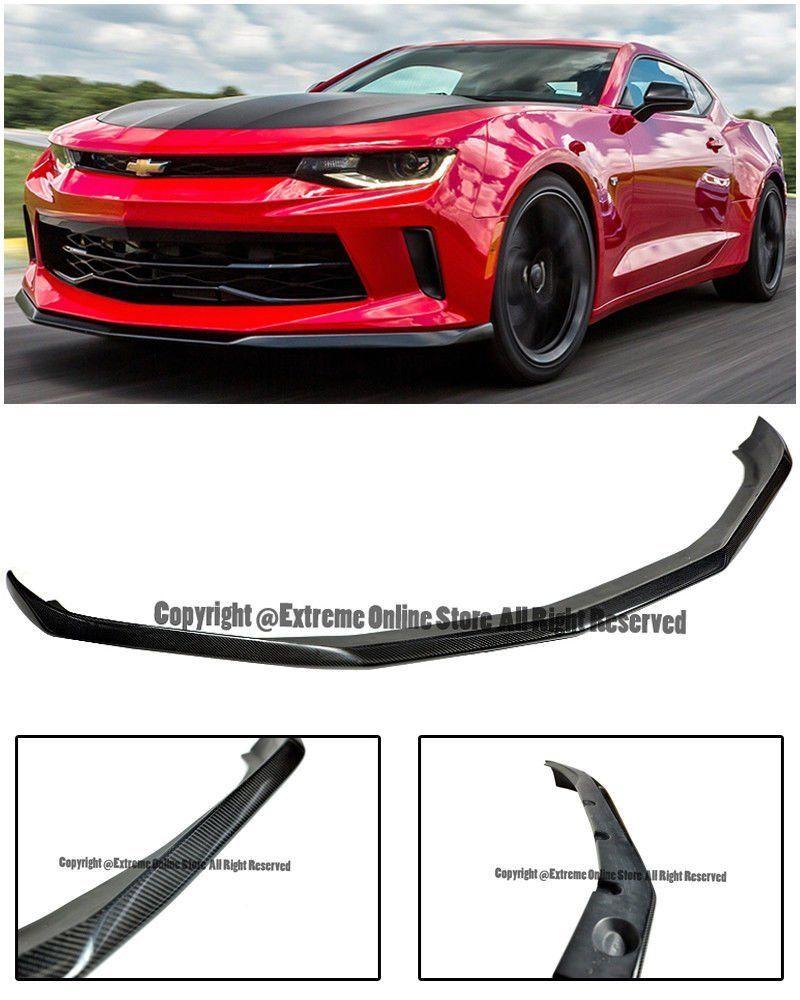 Amazon Com 50th Anniversary 1le Track Package Carbon Fiber Front Bumper Lower Lip Splitter Wing Spoiler For 16 Up Chevrolet Camaro Rs Camaro Chevrolet Camaro