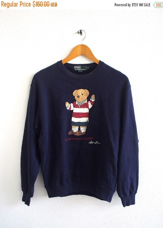 fb608fc1 Vintage 90's POLO Ralph Lauren Bear Play Wearing Stripped P Wing ...