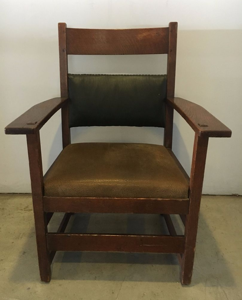 Antique Stickley Brothers Arts And Crafts Mission Chair #Stickley