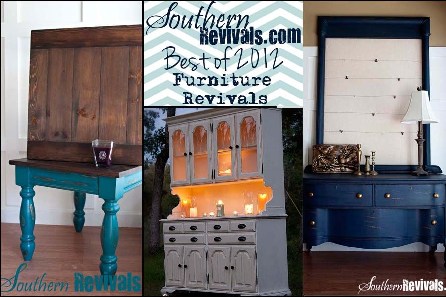 Southern Revivals: The Best of 2012 Furniture Revivals A Revival Review.  Love these makeovers! #furnitureredos