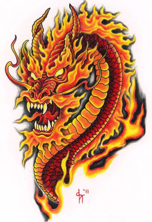 Dragon Tattoos Fire Color Dragon Tattoo Design Dragon Tattoo Designs Dragon Tattoos For Men Small Dragon Tattoos