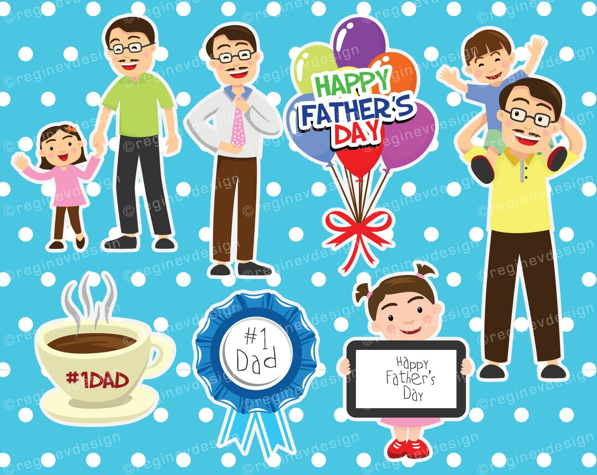 Father S Day Clipart Vector Daddy 1 Dad Party Etsy Scrapbooking Projects Clip Art Dad Party
