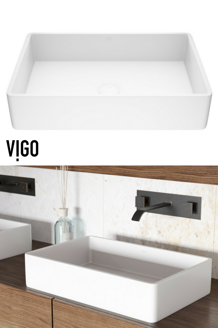 Vigo magnolia matte stone vessel bathroom sink bathroom inspiration